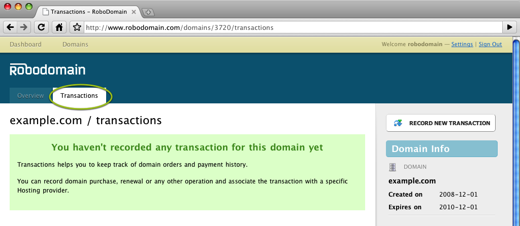 Domain Transactions without Transactions